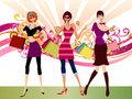 Fashion girls Royalty Free Stock Image