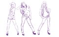 Fashion girls. Sketch. Vector illustration Royalty Free Stock Photo