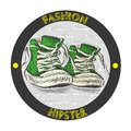 Fashion hipster shoes - sneakers.