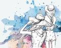 Fashion Illustration. Girls In...