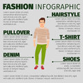Fashion infographic with man in sweater
