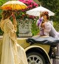 Fashion ladies club highclass rich money Royalty Free Stock Photo