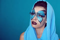 Fashion Make up. Butterfly makeup on face beautiful woman. Art P Royalty Free Stock Photo