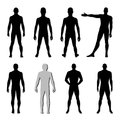 Fashion man figure set