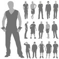 Fashion man set vector Stock Photography