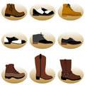 Fashion man shoes Royalty Free Stock Photos