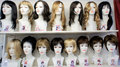 Fashion mannequins wigs women s wigs different hairstyles black blond brown hair variety hair styles long short hair Royalty Free Stock Images