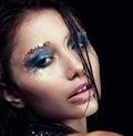 Fashion model beauty girl - sexy fresh face Royalty Free Stock Photo