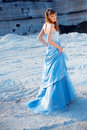Fashion model in evening dress Royalty Free Stock Photography