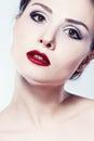 Fashion model girl face Royalty Free Stock Photo