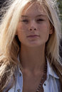 Fashion model Irina Kulikova beauty portrait in New York Royalty Free Stock Photo