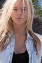 Fashion model Irina Kulikova Beauty portrait Royalty Free Stock Photo