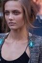 Fashion model Karmen Pedaru beauty portrait in New York Royalty Free Stock Photo