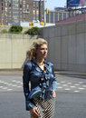 Fashion model outdoors Royalty Free Stock Photos