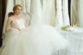 Fashion model romantic style bride Royalty Free Stock Photos