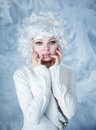 Fashion model with snow make-up Royalty Free Stock Photo