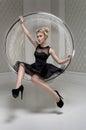 Fashion model in studio Royalty Free Stock Photo