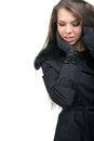 Fashion model stylish winter clothing Royalty Free Stock Photography