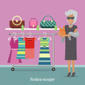 Fashion Monger Lady in Luxury Shop. Rich Woman