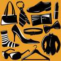 Fashion objects vector Royalty Free Stock Photos