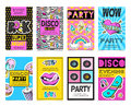 Fashion Patch Badges Banner Set Royalty Free Stock Photo