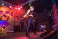 Fashion performance Art Chaos in night club Black Rose in Kirov