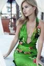Fashion photo of beautiful young woman wearing lace dress Royalty Free Stock Photo