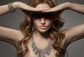 Fashion Portrait Of Beautiful Luxury Woman With Jewelry Royalty Free Stock Photo