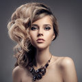 Fashion Portrait Of Luxury Woman With Jewelry. Royalty Free Stock Photo