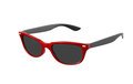 Fashion red sunglasses vintage retro black on white Royalty Free Stock Photo