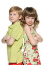 Fashion redhead boy and  girl Royalty Free Stock Photo