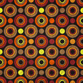 Fashion rings retro pattern with circles and dots on paper texture Stock Photography