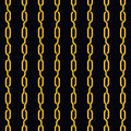 Fashion seamless pattern golden chain