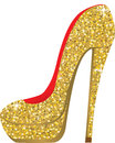 Fashion shoes with sequins vector illustration Royalty Free Stock Photos