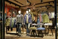 Fashion shop clothing store interior of men s in hongkong center go shopping in china asia Royalty Free Stock Photo