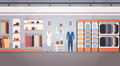 Fashion Shop Interior Clothes Store Banner With Copy Space