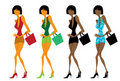 Fashion shopping female Stock Photos
