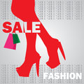 Fashion shopping girl Royalty Free Stock Photo