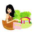Fashion shopping girl with shopping bags Royalty Free Stock Photo