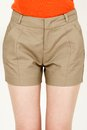 Fashion short pants young woman wearing sexy closeup shot Royalty Free Stock Photos