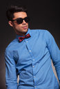Fashion shot of an elegant young man Stock Image