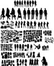 Fashion  silhouettes Royalty Free Stock Photo