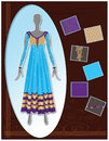 Fashion sketch indian lattest garment designs suit portfolio Stock Images