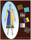 Fashion sketch indian lattest garment designs suit portfolio Royalty Free Stock Photography