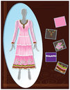 Fashion sketch indian lattest garment designs suit portfolio Stock Image