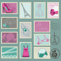 Fashion Stamp Collection Royalty Free Stock Images