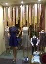 Fashion store window in vienna austria Stock Image