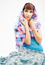 Fashion style woman portrait in asian clothes Royalty Free Stock Photo