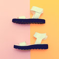 Fashion summer shoes. Royalty Free Stock Photo