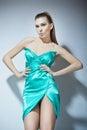 Fashion turquoise clothes girl Royalty Free Stock Photo